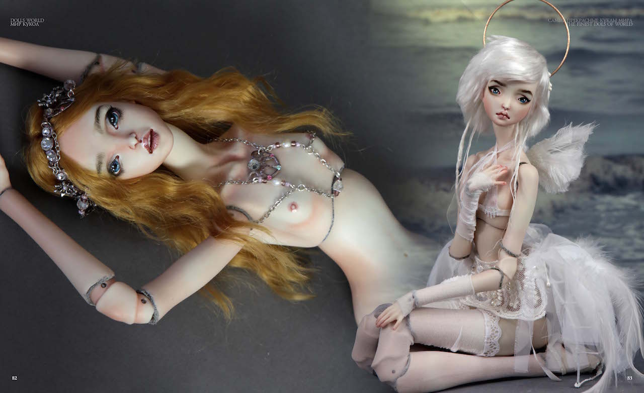 42 FHDolls featured on The most beautiful dolls of the world Book by Svetlana Pchelnikova.