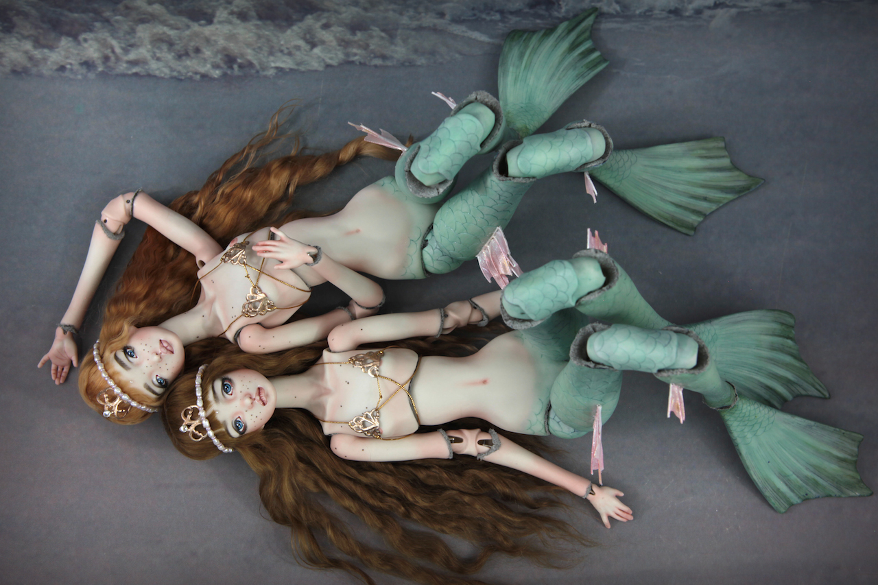 IMG 0047 Aruba & Algae New Fine Art BJD Mermaids