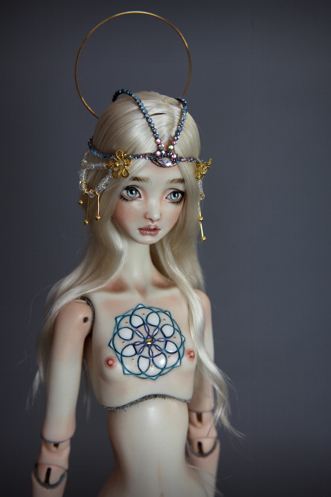 IMG 0006 Fine Art Porcelain BJD Mermaid Doll Antares