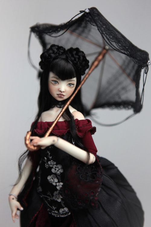 BJD Dolls   Roadside Circus Japanese Clown Maya Porcelain BJD Doll by Forgotten Hearts