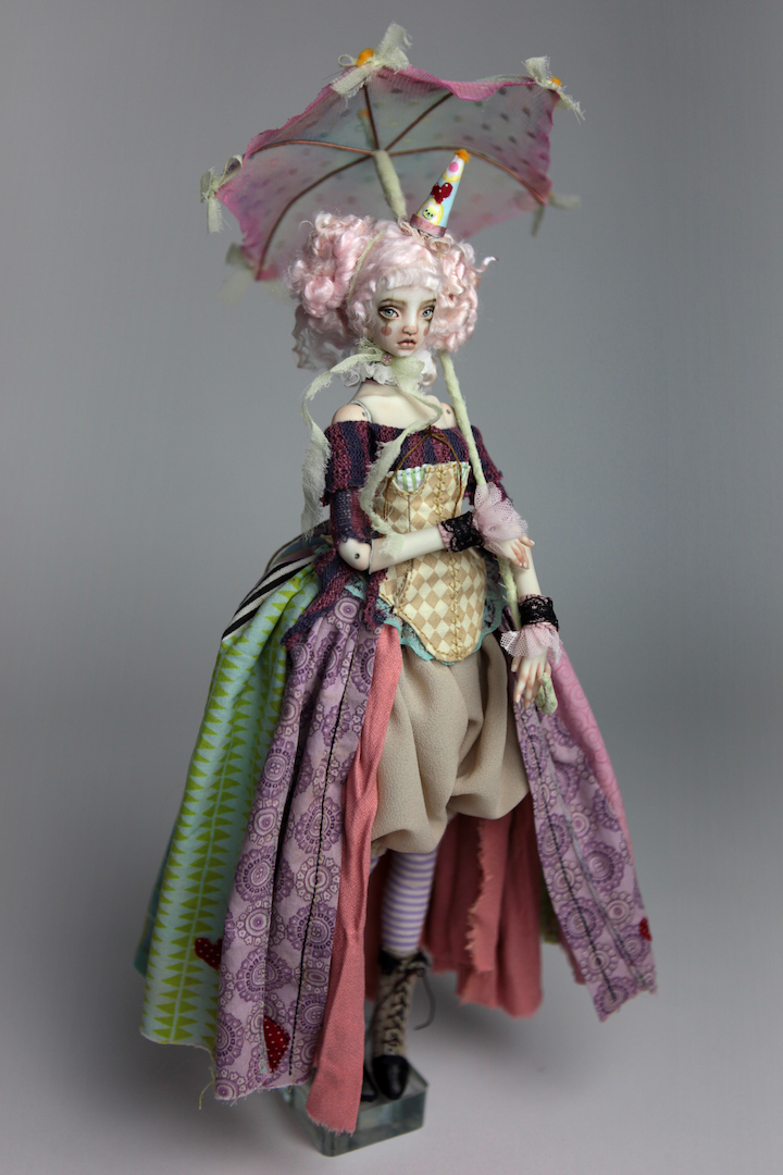 IMG 8592 15 Victorian Roadside Circus Clown Porcelain BJD Doll Alice