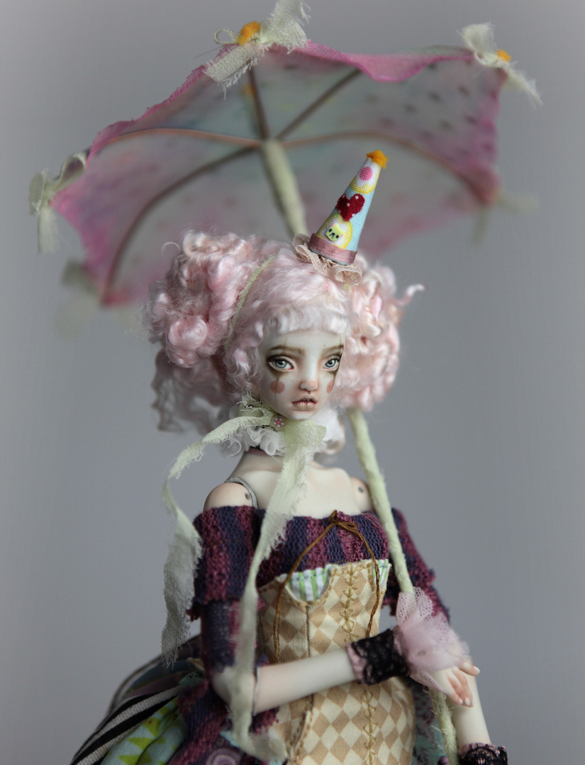 IMG 8593 15 Victorian Roadside Circus Clown Porcelain BJD Doll Alice