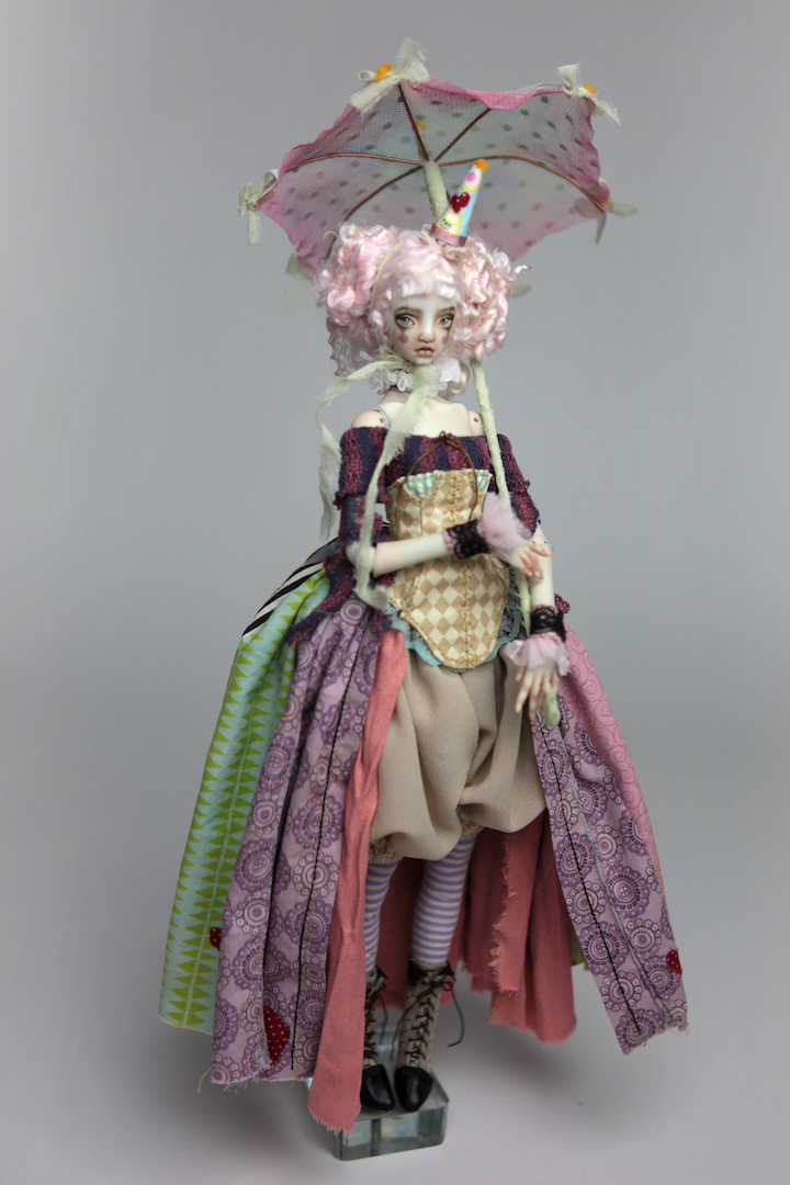 IMG 8595 15 Victorian Roadside Circus Clown Porcelain BJD Doll Alice