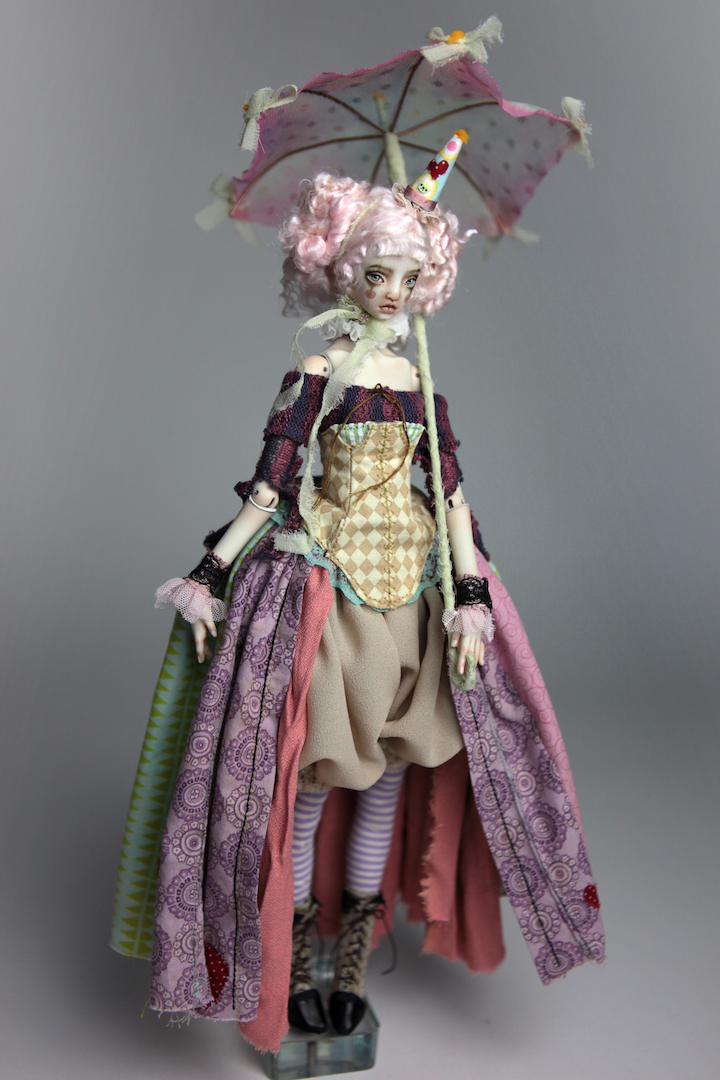IMG 8597 15 Victorian Roadside Circus Clown Porcelain BJD Doll Alice