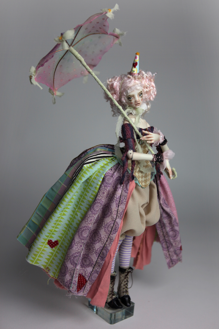 IMG 8598 15 Victorian Roadside Circus Clown Porcelain BJD Doll Alice