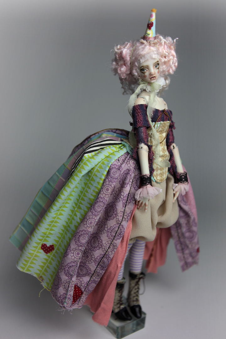 IMG 8601 15 Victorian Roadside Circus Clown Porcelain BJD Doll Alice