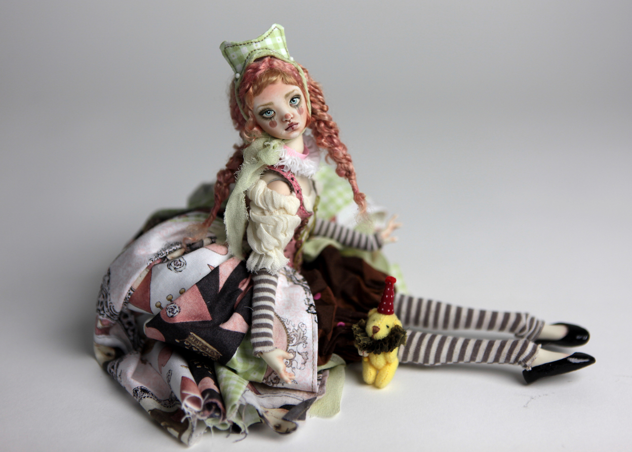Porcelain BJD Doll Victorian Strawberry Maya with Carousel Horse