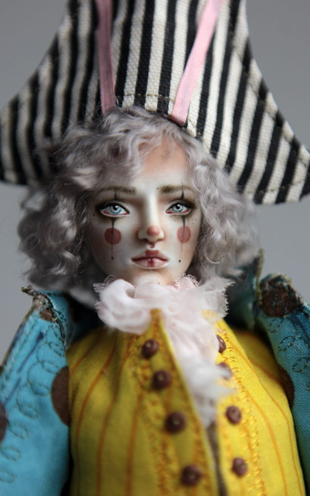Porcelain BJD Dolls Victorian Strawberry28 15 Victorian 1700s Pierrot Clown Porcelain BJD Doll
