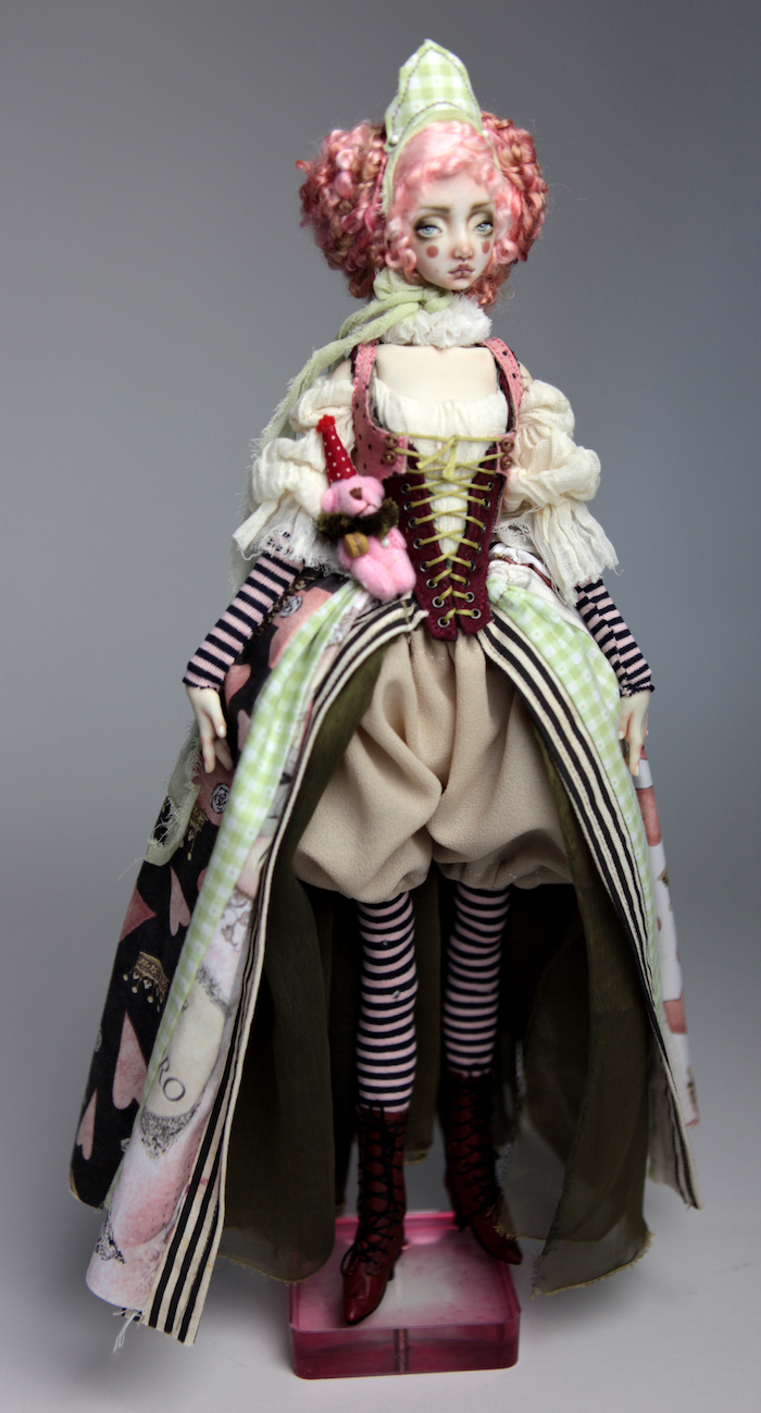 Porcelain BJD Dolls Victorian Strawberry32 1 15 Victorian Strawberry Clown Porcelain BJD Doll Rea