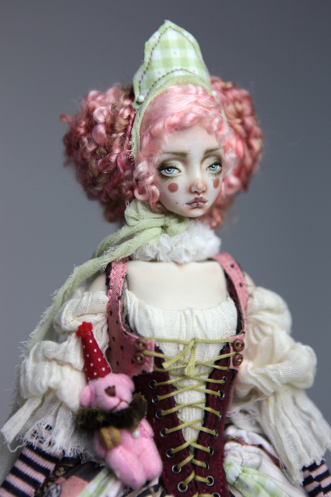 Porcelain BJD Dolls Victorian Strawberry33 1 15 Victorian Strawberry Clown Porcelain BJD Doll Rea