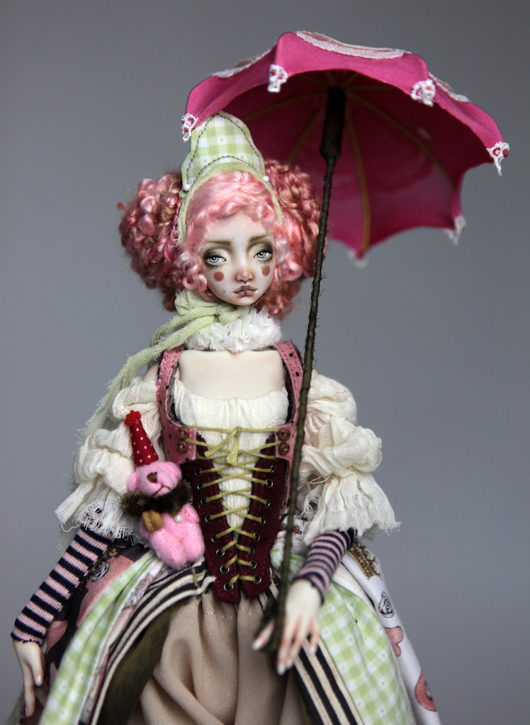 Porcelain BJD Dolls Victorian Strawberry34 1 15 Victorian Strawberry Clown Porcelain BJD Doll Rea