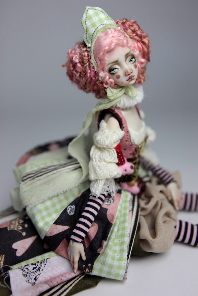 Porcelain BJD Dolls Victorian Strawberry37 1 15 Victorian Strawberry Clown Porcelain BJD Doll Rea
