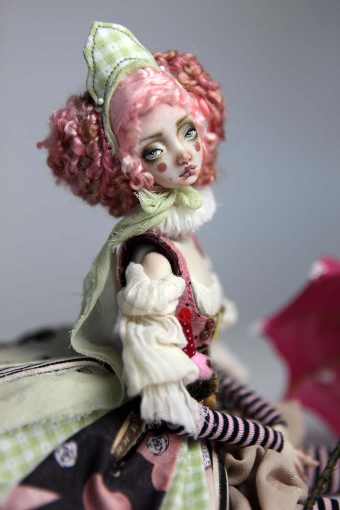 Porcelain BJD Dolls Victorian Strawberry38 1 15 Victorian Strawberry Clown Porcelain BJD Doll Rea