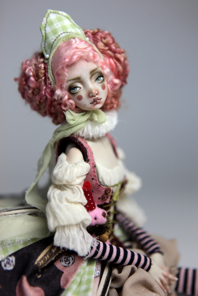 Porcelain BJD Dolls Victorian Strawberry39 1 15 Victorian Strawberry Clown Porcelain BJD Doll Rea