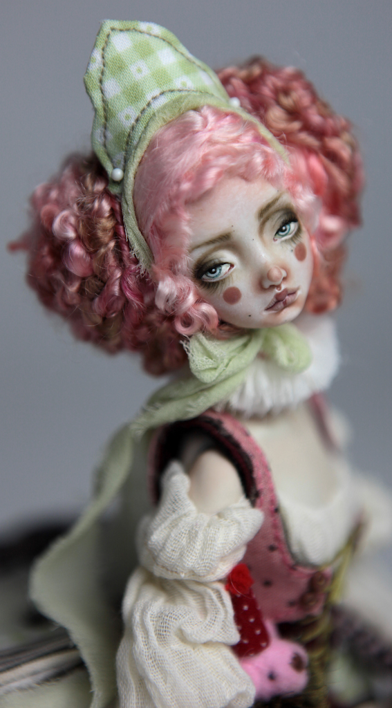 Porcelain BJD Dolls Victorian Strawberry62 1 15 Victorian Strawberry Clown Porcelain BJD Doll Rea