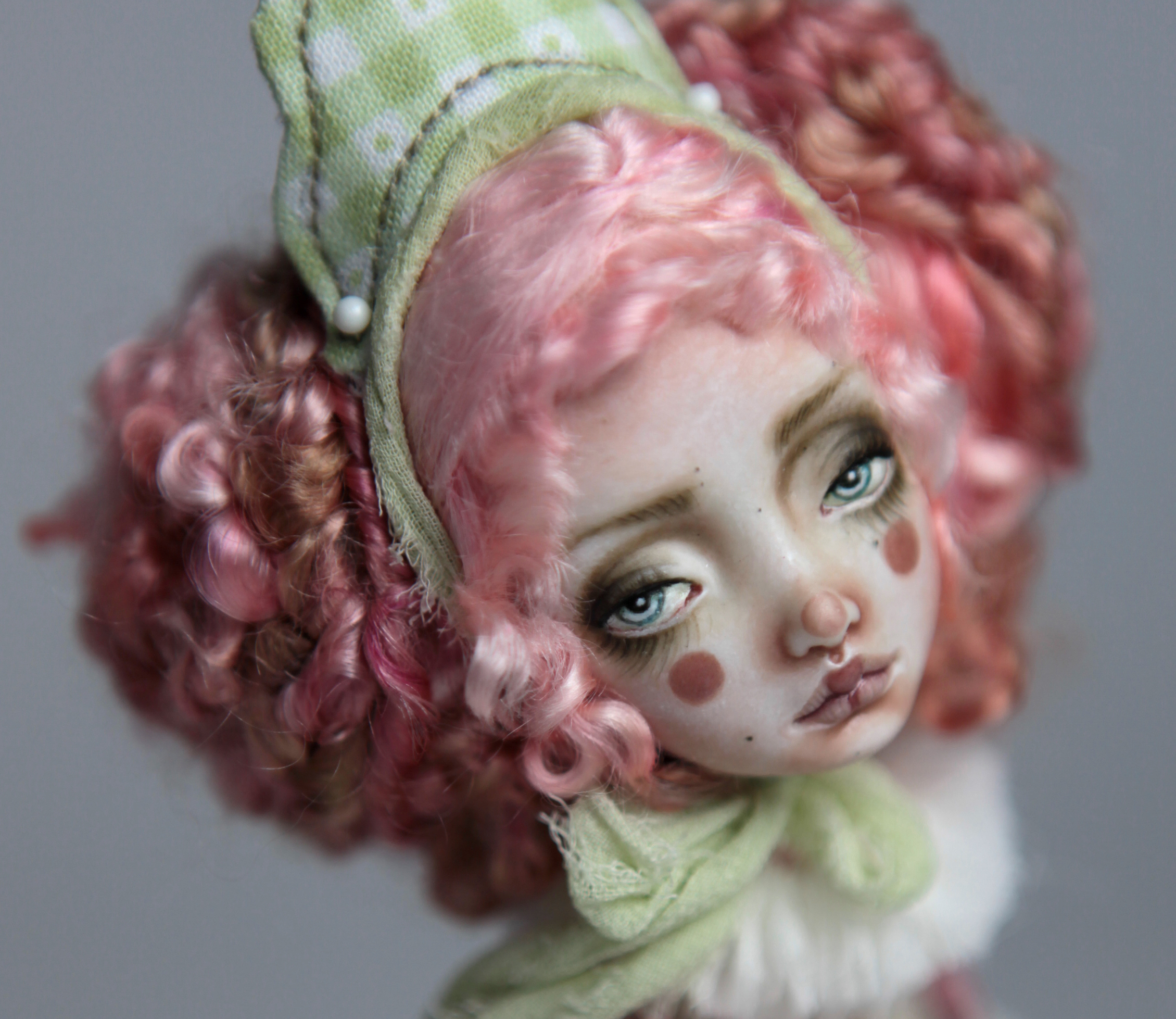 Porcelain BJD Dolls Victorian Strawberry62a 1 15 Victorian Strawberry Clown Porcelain BJD Doll Rea