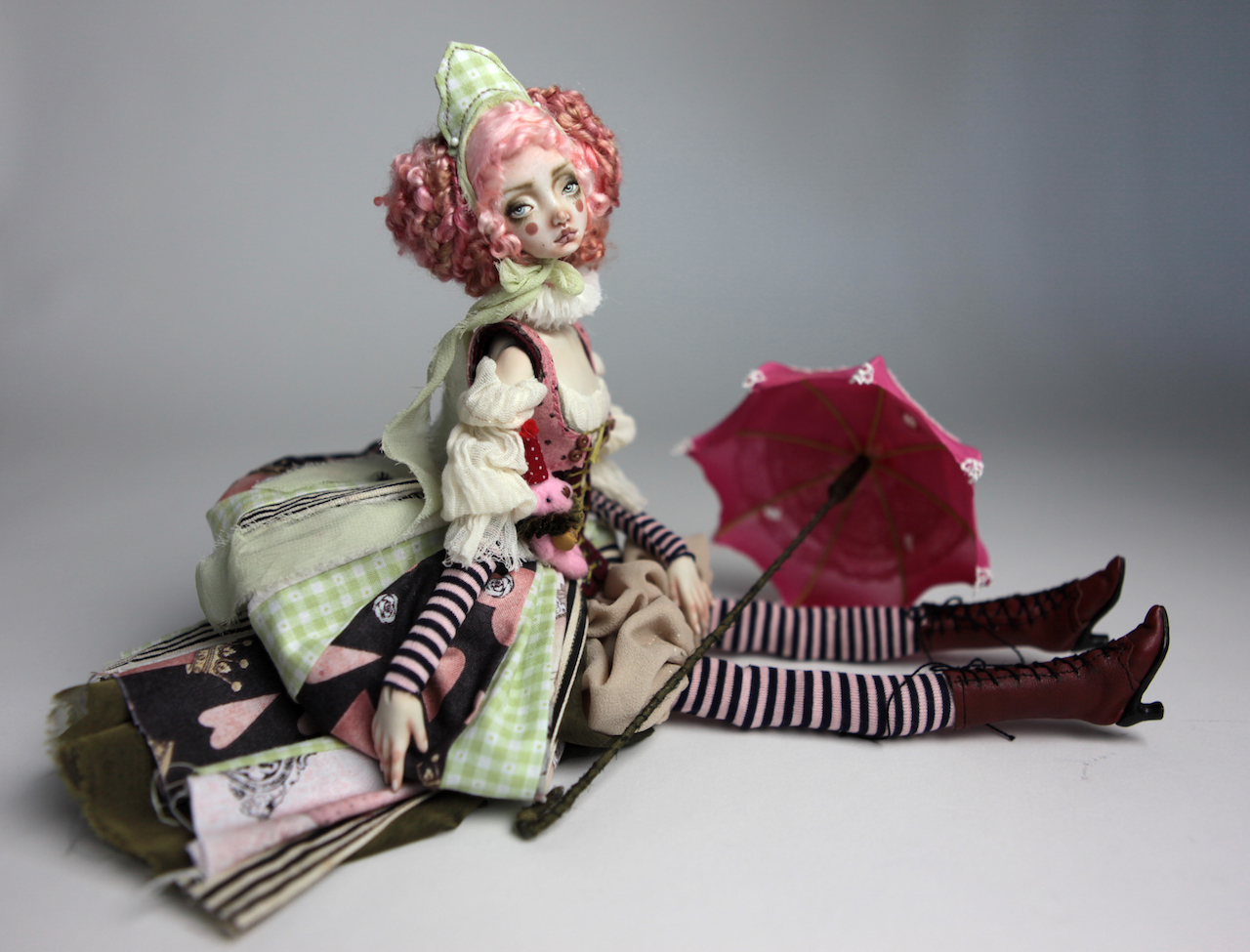 Porcelain BJD Dolls Victorian Strawberry63 1 15 Victorian Strawberry Clown Porcelain BJD Doll Rea