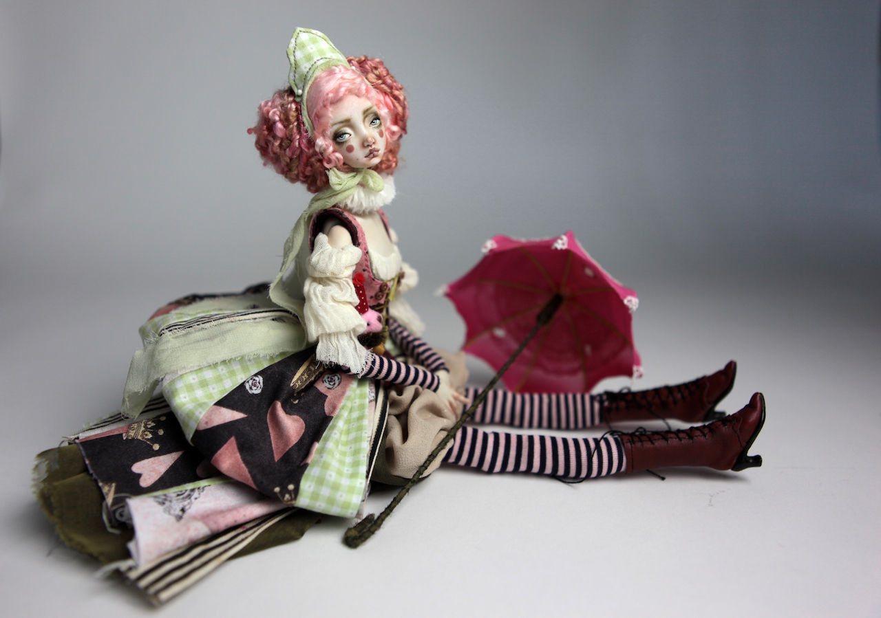 Porcelain BJD Dolls Victorian Strawberry64 1 15 Victorian Strawberry Clown Porcelain BJD Doll Rea