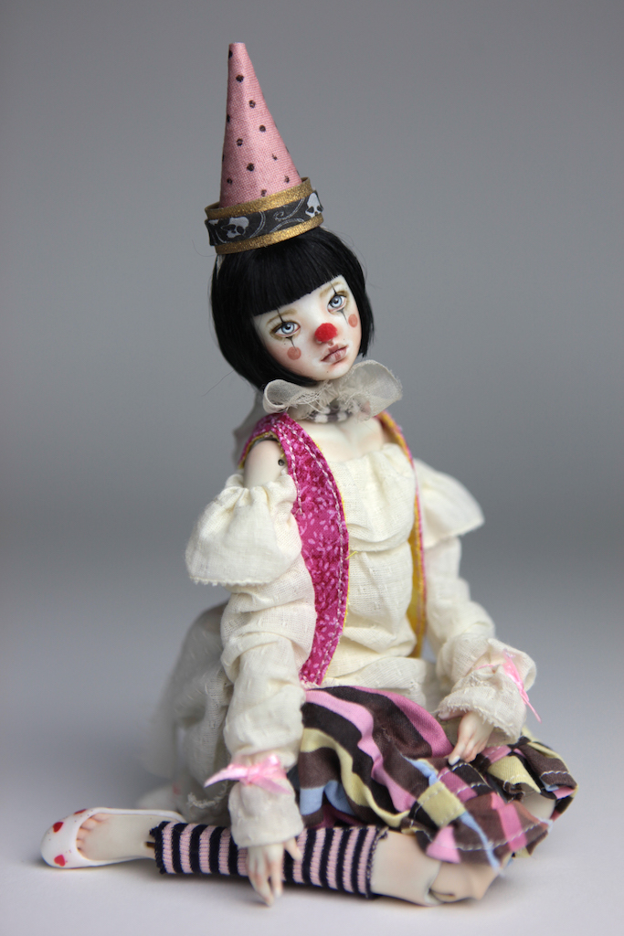 Custom BJD Doll Ball Jointed Doll Maya 10 13 Birthday Circus Clown Maya
