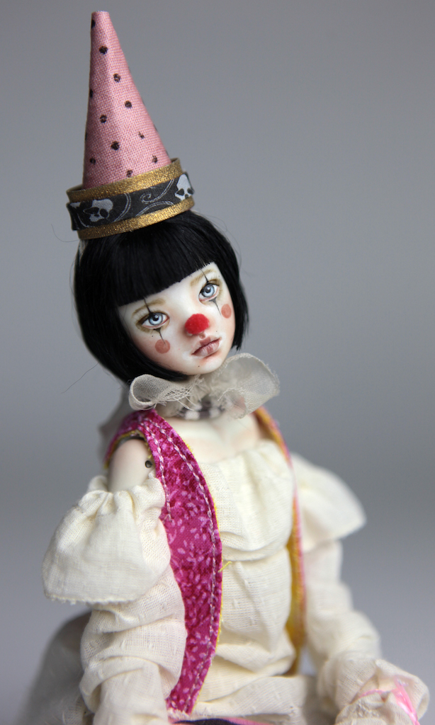 Custom BJD Doll Ball Jointed Doll Maya 11 13 Birthday Circus Clown Maya