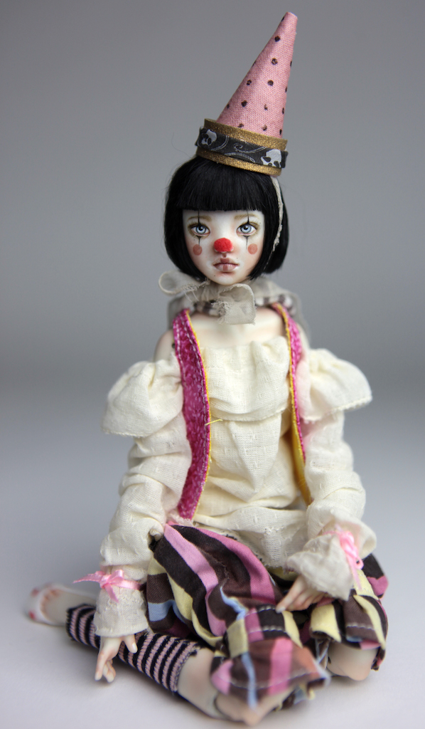 Porcelain BJD Doll - Birthday Clown Maya by Forgotten Hearts