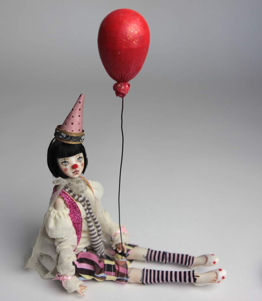Custom BJD Doll Ball Jointed Doll Maya 5 13 Birthday Circus Clown Maya