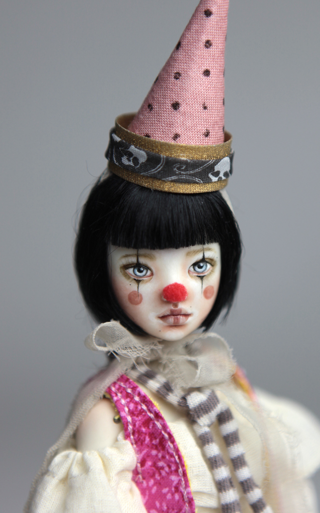 Custom BJD Doll Ball Jointed Doll Maya 9 13 Birthday Circus Clown Maya