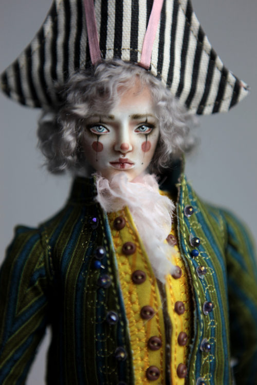 Porcelain BJD Doll Pierrot