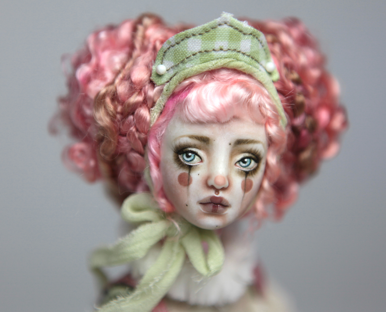 Porcelain BJD Dolls Victorian Strawberry47 15 Victorian Strawberry Clown Porcelain BJD Doll Renaissance