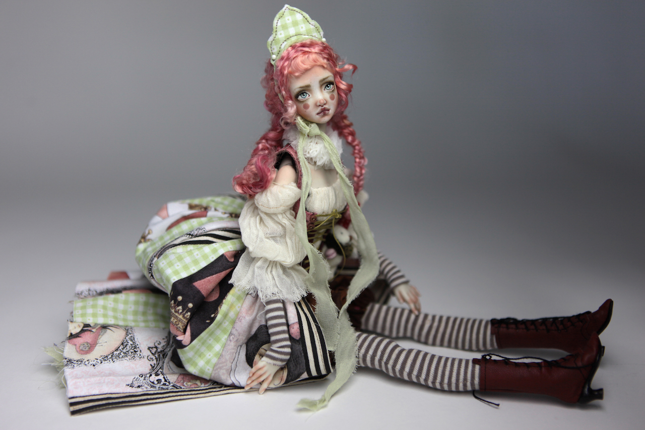 Porcelain BJD Dolls Victorian Strawberry66 15 Victorian Strawberry Clown Porcelain BJD Doll Echo