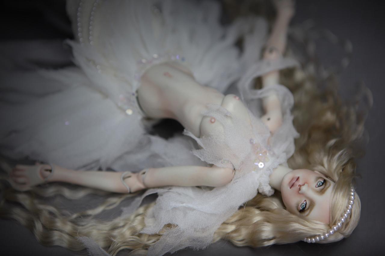 BJD Doll Ball Jointed Betta Mermaid 2018 2 15 Porcelain BJD Doll   White Betta Mermaid Luna