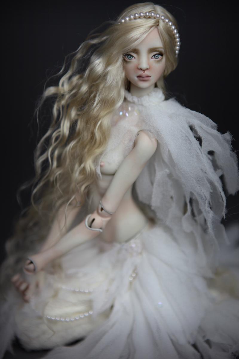 BJD Doll Ball Jointed Betta Mermaid 2018 5 15 Porcelain BJD Doll   White Betta Mermaid Luna