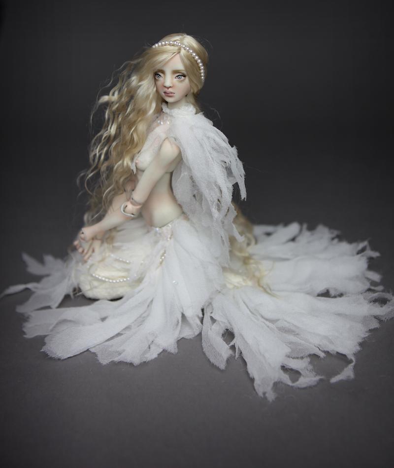 BJD Doll Ball Jointed Betta Mermaid 2018 6 15 Porcelain BJD Doll   White Betta Mermaid Luna