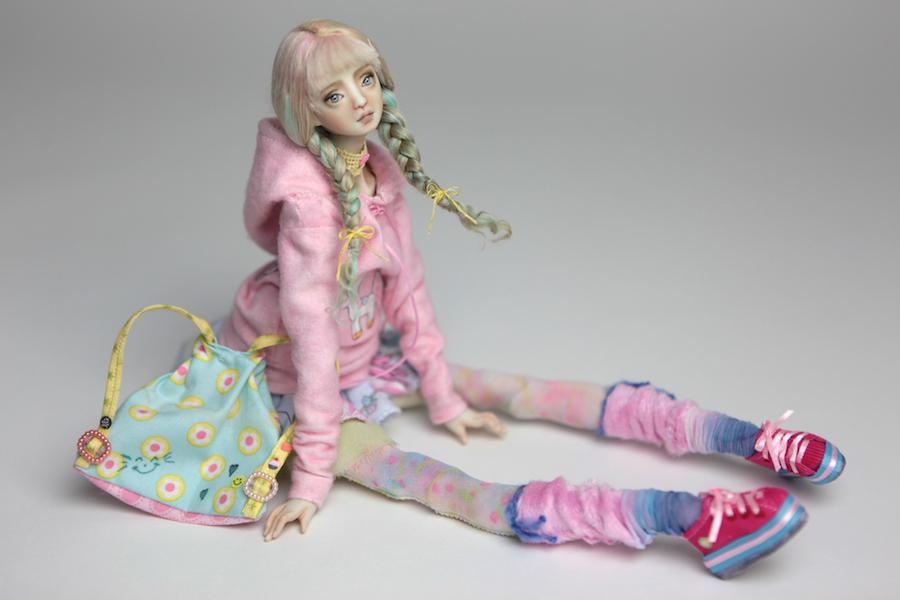 BJD Doll Ball Jointed Harajuku 2018 11 15 Porcelain BJD Harajuku Renaissance (Green Hair)