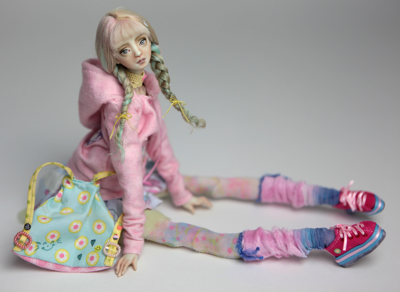 BJD Doll Ball Jointed Harajuku 2018 12 15 Porcelain BJD Harajuku Renaissance (Green Hair)