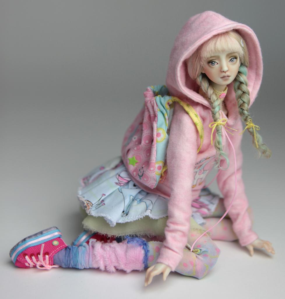 BJD Doll Ball Jointed Harajuku 2018 17 15 Porcelain BJD Harajuku Renaissance (Green Hair)