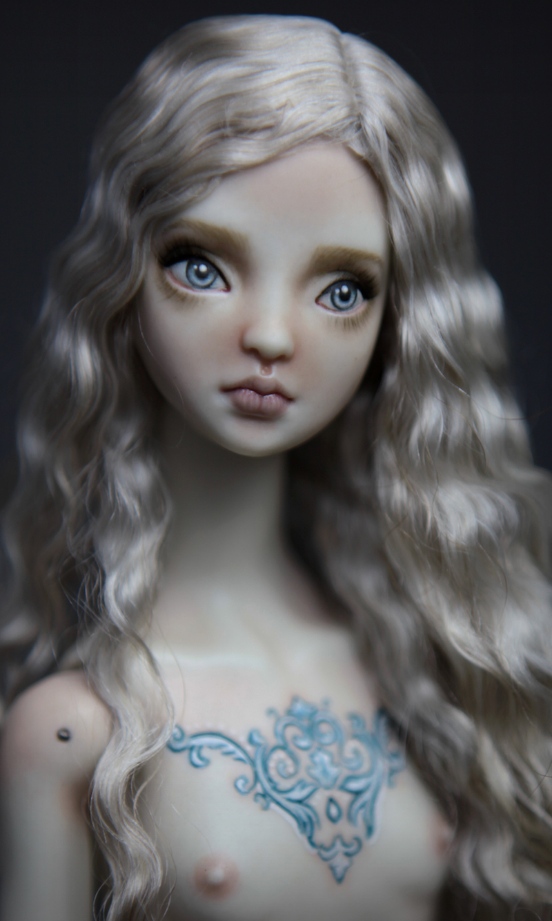 BJD Doll Ball Jointed Tattoed Baroque Sphinx 13 15 Porcelain BJD Doll   Rococo Tattooed Sphinx