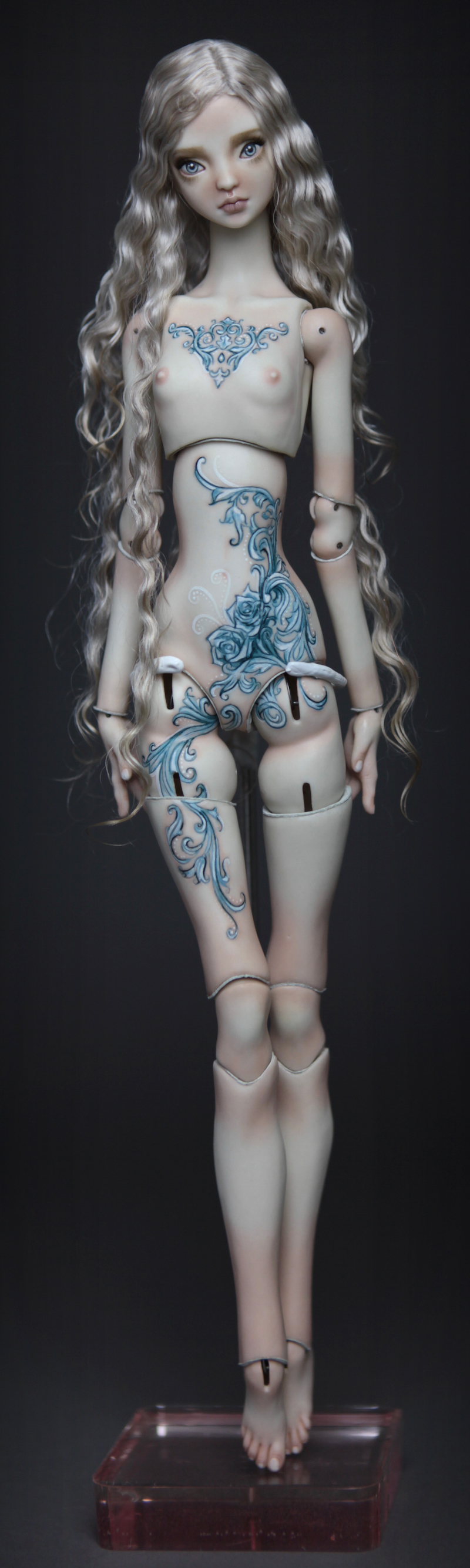 BJD Doll Ball Jointed Tattoed Baroque Sphinx 7 15 Porcelain BJD Doll   Rococo Tattooed Sphinx