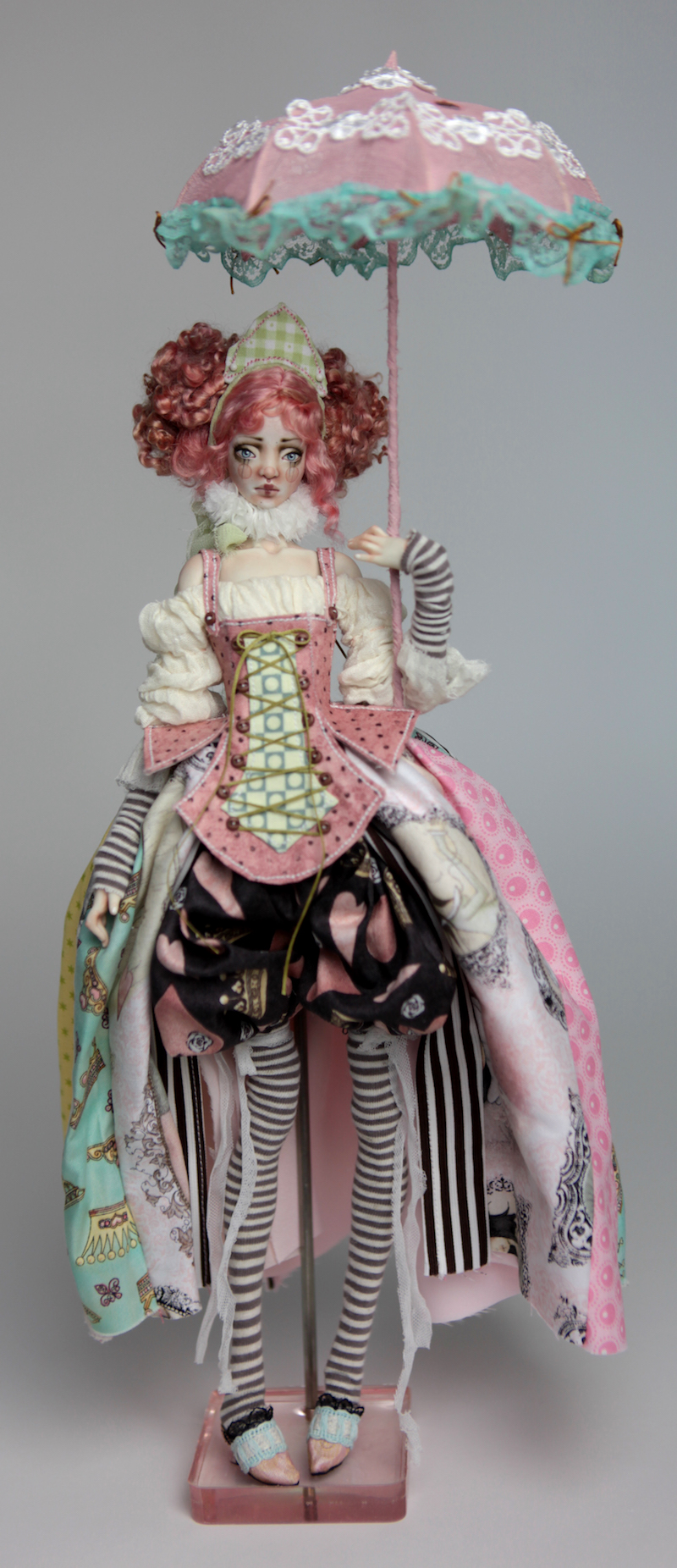 BJD Doll Ball Jointed Victorian Cotton Candy 1 15 Victorian Strawberry Clown Porcelain BJD Doll Luna