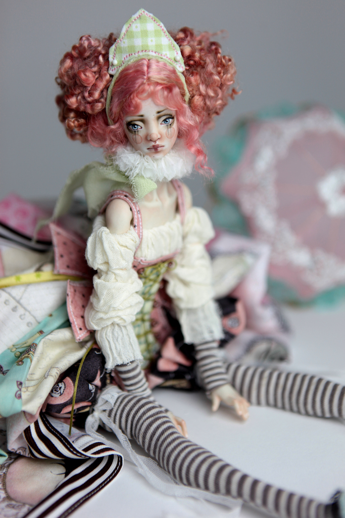 BJD Doll Ball Jointed Victorian Cotton Candy 10 1 15 Victorian Strawberry Clown Porcelain BJD Doll Luna