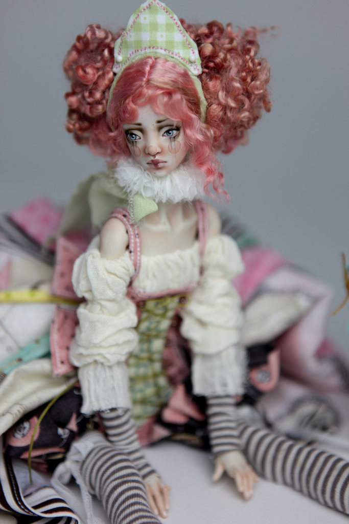 BJD Doll Ball Jointed Victorian Cotton Candy 12 1 15 Victorian Strawberry Clown Porcelain BJD Doll Luna