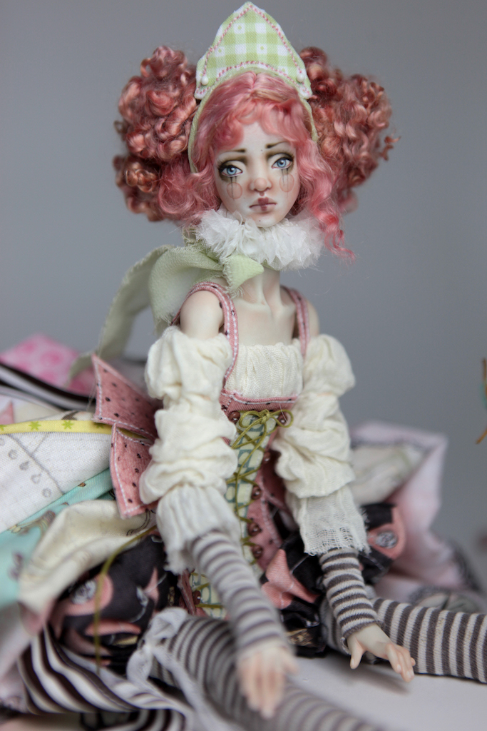 BJD Doll Ball Jointed Victorian Cotton Candy 13 15 Victorian Strawberry Clown Porcelain BJD Doll Luna