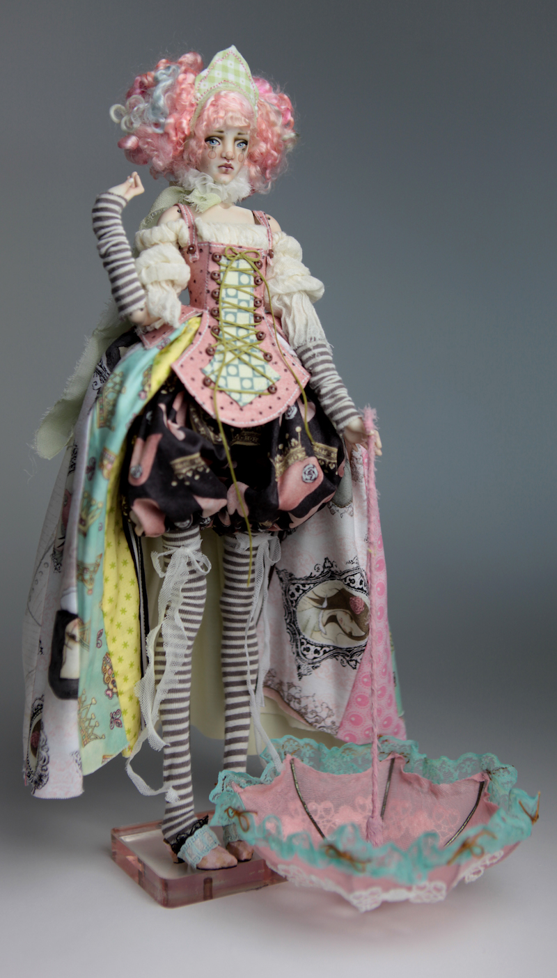 BJD Doll Ball Jointed Victorian Cotton Candy 18 15 Victorian Strawberry Clown Porcelain BJD Doll Willow