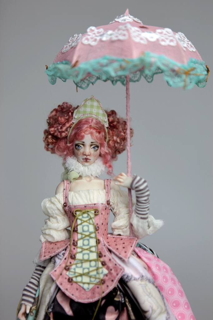 BJD Doll Ball Jointed Victorian Cotton Candy 2 15 Victorian Strawberry Clown Porcelain BJD Doll Luna