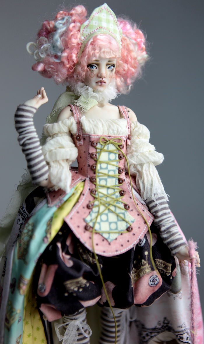 BJD Doll Ball Jointed Victorian Cotton Candy 20 15 Victorian Strawberry Clown Porcelain BJD Doll Willow