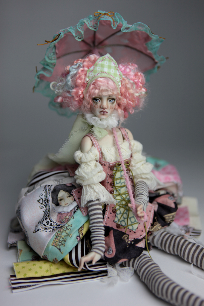 BJD Doll Ball Jointed Victorian Cotton Candy 25 Victorian Red Skulls