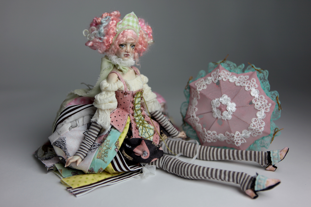 BJD Doll Ball Jointed Victorian Cotton Candy 27 15 Victorian Strawberry Clown Porcelain BJD Doll Willow