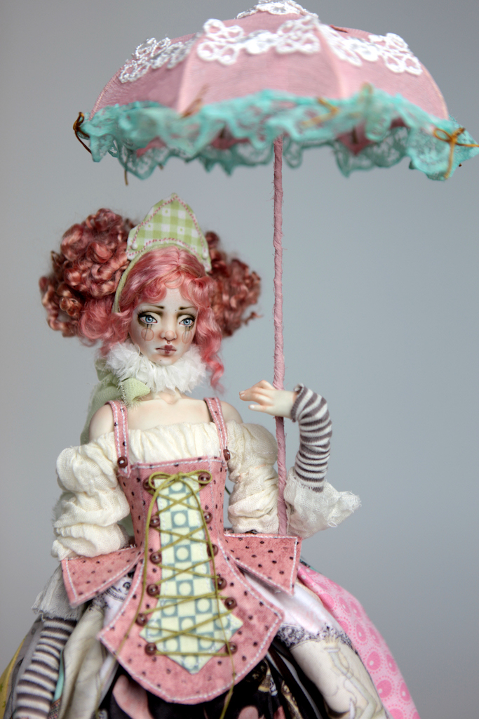 BJD Doll Ball Jointed Victorian Cotton Candy 3 15 Victorian Strawberry Clown Porcelain BJD Doll Luna