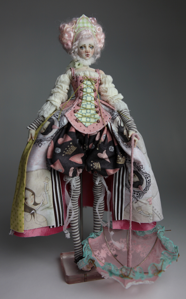 BJD Doll Ball Jointed Victorian Cotton Candy 32 15 Victorian Strawberry Clown Porcelain BJD Doll Eleven