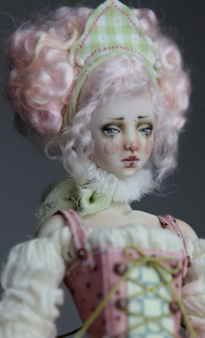 BJD Doll Ball Jointed Victorian Cotton Candy 35 15 Victorian Strawberry Clown Porcelain BJD Doll Eleven